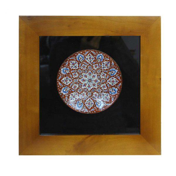 تابلو کاشی معرق طرح ترنج قهوه ای مجموعه اکسیر