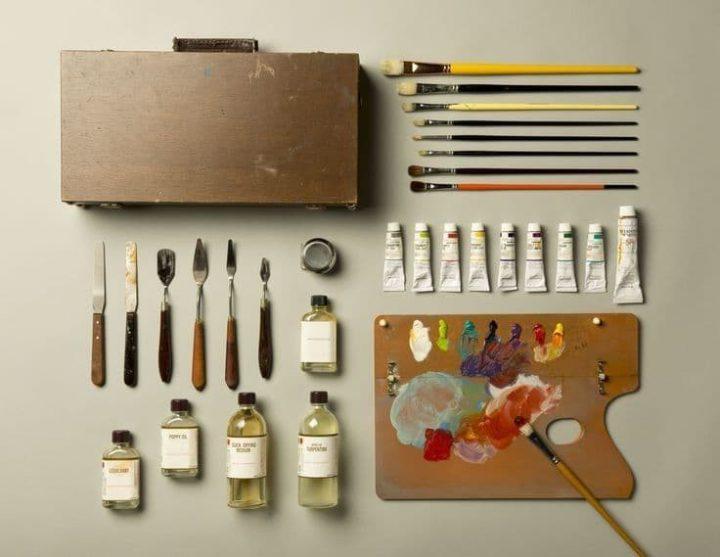 ابزار نقاشی رنگ روغن مدرن کدامند؟