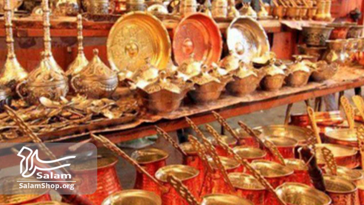 ظروف مسی از صنایع دستی لوکس ایرانی هستند.