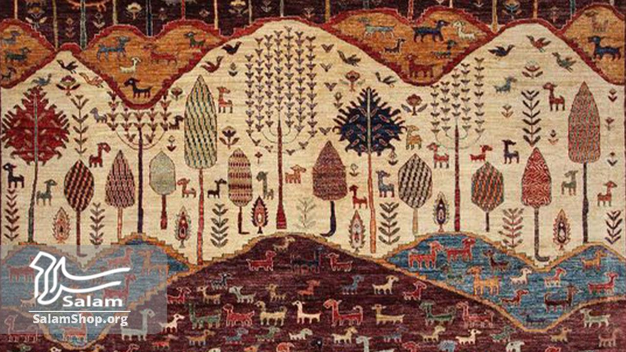 طرح در گبه بافی شیراز و بوشهر