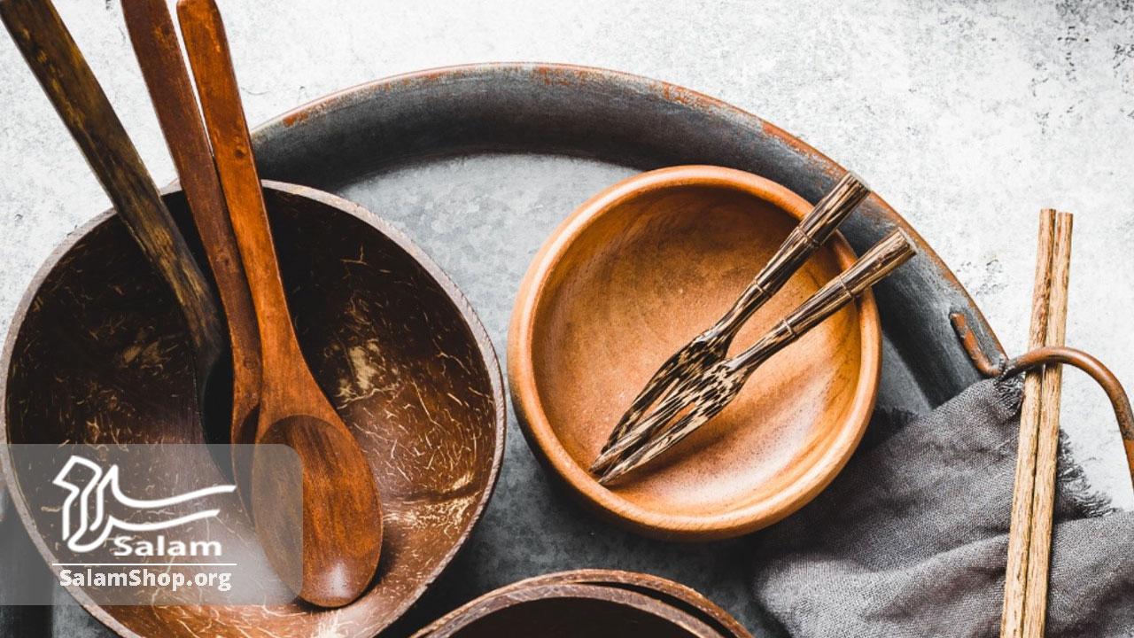 استفاده از چوبای محتلف در ساختن ظروف
