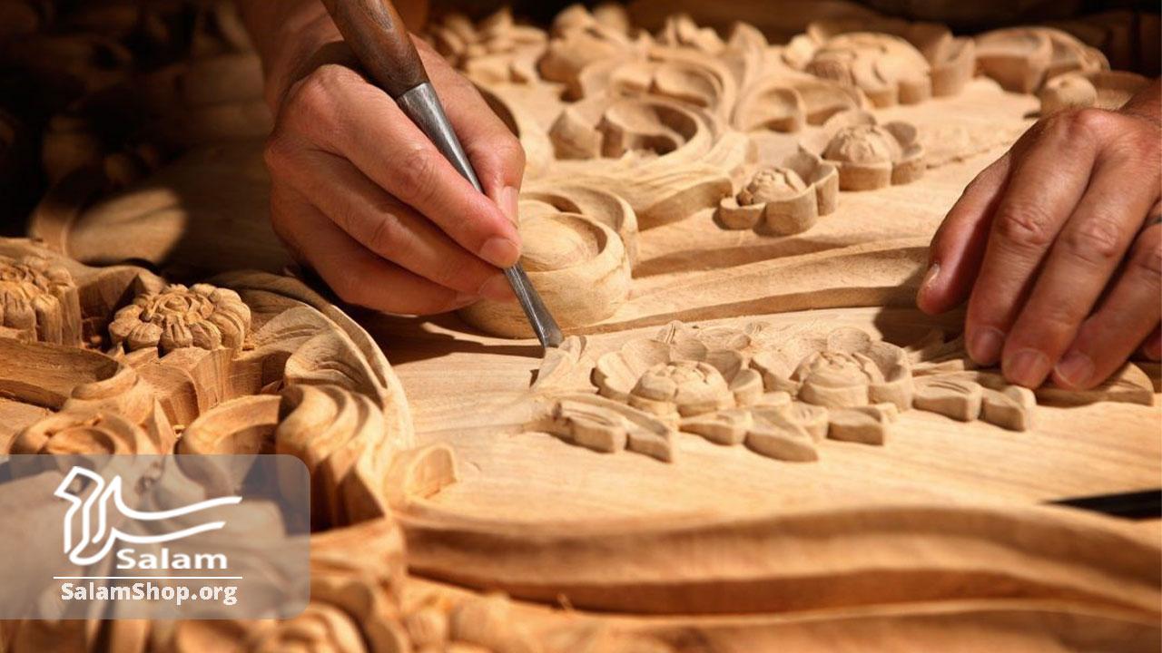منبت کاری در صنایع دستی گلپایگان